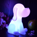 LED Nachtlamp Hond multicolor draadloos verlichtingsobject