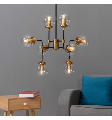 industriële chandelier arm 8 - Zenith