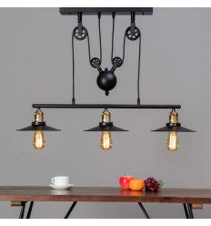 industrielamp hanglamp - Triple Piattino