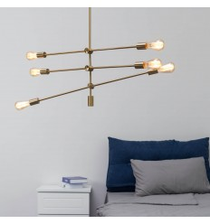 verguld messing hanglamp - Sagitta