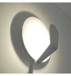 Wandlamp modern LED design wit gelakt Boston