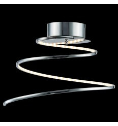 Plafondlamp modern design LED chroom spiraal - Looper