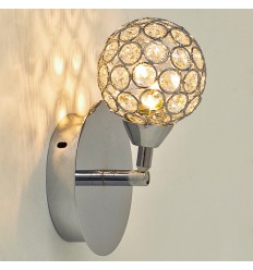 Wandlamp kristal/chroom collection Callopa