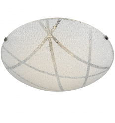 Ronde plafondlamp LED en glaswerk - Sunset