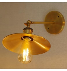 Vintage golden wandlamp - Scopa