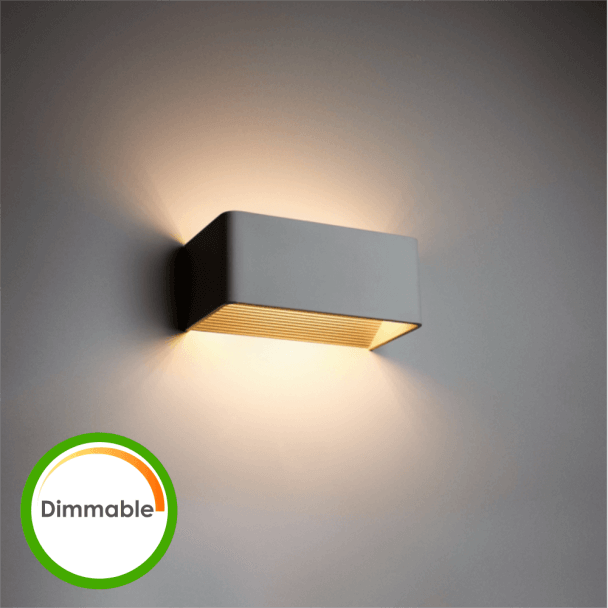 applique led 6w dimmable quadra 20 cm