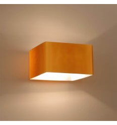 Lampe opaline ambrée rectangle - Pacifist