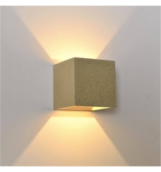 Cement light cube wandlamp - Terra