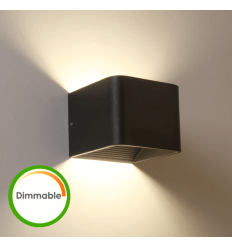 LED dimmercompatibele wandlamp zwart - Quadra