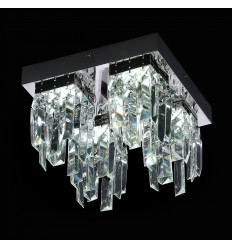 Chrome LED Crystal Ceiling Light - Vienna